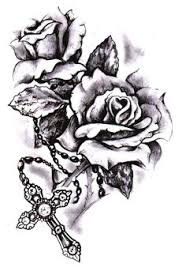 cross with roses tatoos 3 tatting