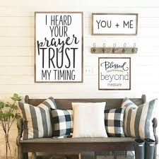 blessed beyond measure wood sign home decor scripture sign