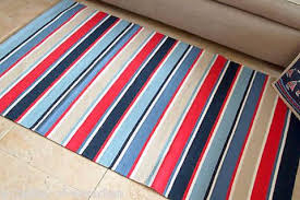 Red White Striped Rug Kust Nautical Themed Fine Cotton Rug In Red White Blue Stripes 90