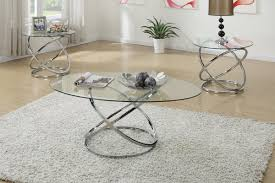 3 piece end table set glass chrome coffee table set furnish your needs