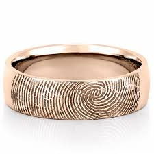 band gold fingerprint wedding band mens fingerprint on outside of wedding