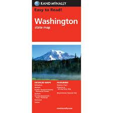 Maps Washington State by Rand Mcnally Easy To Read State Folded Map Washington