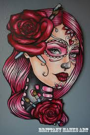 watercolor sugar skull pictures to pin on