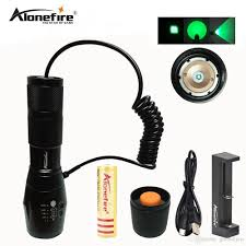 green hunting light reviews alonefire e17 waterproof green cree led hunting light kit with