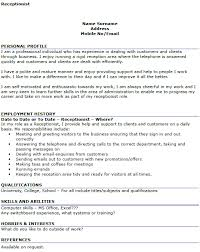 sample hotel receptionist resume law front office receptionist