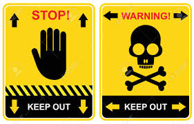set of warning signs keep out stop royalty free cliparts