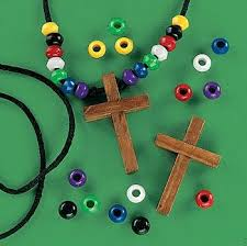 wooden craft crosses wooden cross faith necklace craft kits