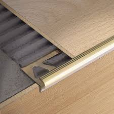 How To Install Laminate Flooring On Stairs With Stair Nose Stainless Steel Stair Nosing Stairtec Fl Il Profilitec
