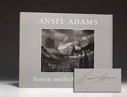 ansel adams yosemite and the range of light poster yosemite and the range of light first edition signed ansel