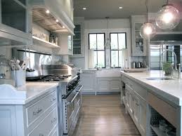Gray Cafe Curtains Gray Kitchen Transitional Kitchen Green
