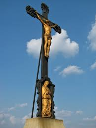 mama mary and jesus christ on cross sculpture free image peakpx