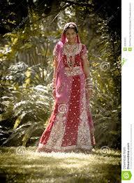 indische brautkleider junge schöne indische hindische braut die unter baum steht