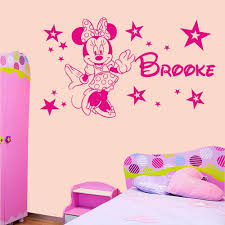 sticker sport picture more detailed picture about personalised personalised minnie mouse stars girls bedroom wall art sticker decal any name