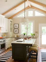 vaulted kitchen ceiling ideas get the look black accents in the kitchen kitchen color schemes