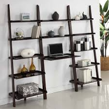 5 Shelf Ladder Bookcase by Amazon Com Mintra Walnut Finish 5 Tier Ladder Book Shelf Kitchen