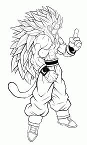 dragon ball goku super saiyan 4 coloring pages coloring