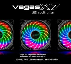120mm rgb case fan akasa vegas x7 120mm 12cm rgb 18 x led ultra quiet pc case fan