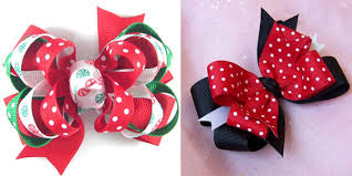 cool hair bows christmas hair bows happy holidays