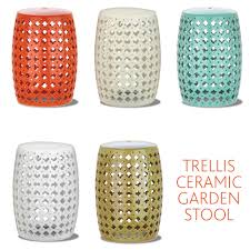 Ceramic Garden Decor Ceramic Garden Stool Adds A Pop Of Color To Your Outdoor Living