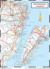 New Jersey Map New Jersey Coast Map