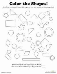 color the shapes worksheet education com