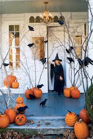 halloween yard decorations halloween fall front porch yard decorating idea with dry trees