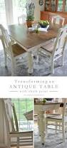 Antique Furniture Dining Room Set by Antique Dining Table Updated With Chalk Paint Antique Dining