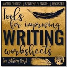 free tools for improving writing worksheets english language arts