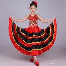 girls spanish dancer costume flamenco fancy dress belly dance top