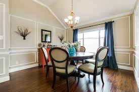 Transitional Dining Rooms Dining Room With Chair Rail U0026 Cathedral Ceiling In Plano Tx