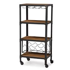 Industrial Style Furniture by Baxton Studio Swanson Rustic Industrial Style Antique Black