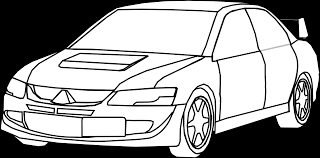 machovka car mitsubishi black white line art coloring book clip