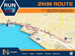 Map Run Route by Run United 2 2015 Sm Moa Registration Singlet Map Pinoy