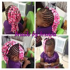 beaded cornrows mohawk with side bangs little braided
