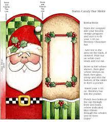 christmas santa candy bar wrapper printable christmas