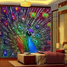 compare prices on peacock wall murals online shopping buy low 3d colorful peacock open screen photo wallpaper murals for living room bedroomwall decor painting modern abstract
