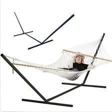 2015 new cotton string hammock steel stand free standing hammock
