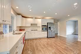 white kitchen cabinets with quartz countertops new light filled kitchen room boasts white cabinets quartz countertops