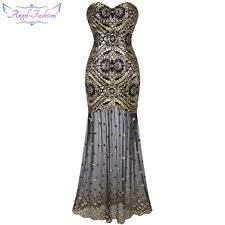 gold flapper dress ebay