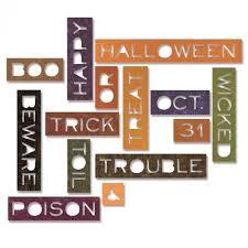 halloween dies sizzix thinlits die set by tim holtz halloween words