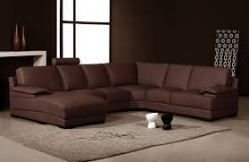 living room furniture l shaped brown leather sleeper sofa with