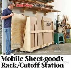 Wood Storage Rack Woodworking Plans by Mobile Sheet Goods Rack Woodworking Plan Workshop U0026 Jigs Shop