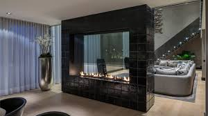 two sided fireplace indoor outdoor home design ideas