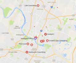 Map Of Austin Tx Austin Tx Coworking Spaces Complete List Austin Tenant Advisors