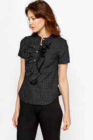ruffled blouse fitted polka dot ruffled blouse just 5