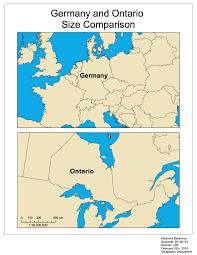Map Size Comparison Size Comparison Of Germany And Ontario U2013 Kateryna Baranova U0027s Portfolio