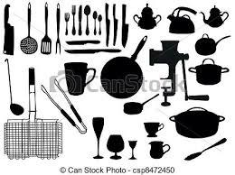 ustensile de cuisine en l ustensile silhouette cuisine ustensile silhouette clipart
