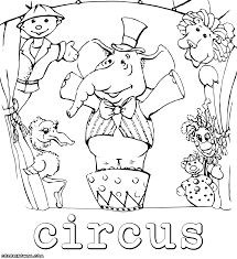 Imposing Design Circus Coloring Pages To Download And Print Circus Coloring Page