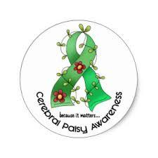 cerebral palsy ribbon cerebral palsy awareness stickers labels zazzle uk