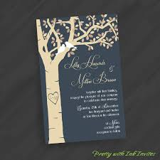 tree wedding invitations special event or wedding invitations carved tree with birdies